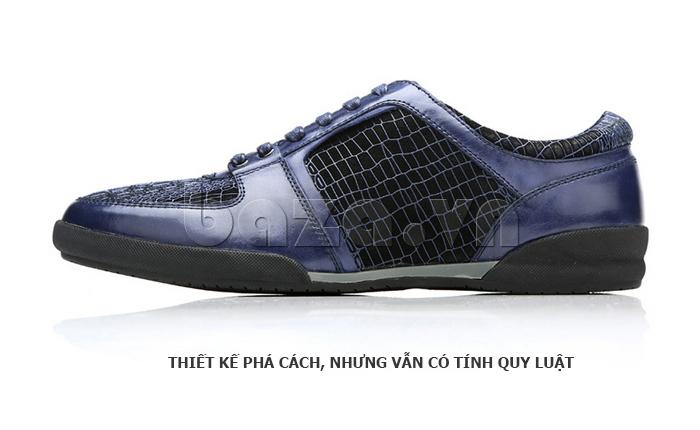 Giày da nam Olunpo QHT1425 được thiết kế phá cách