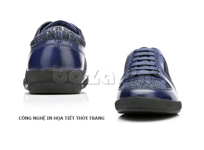 Giày da nam Olunpo QHT1425 họa tiết thời trang