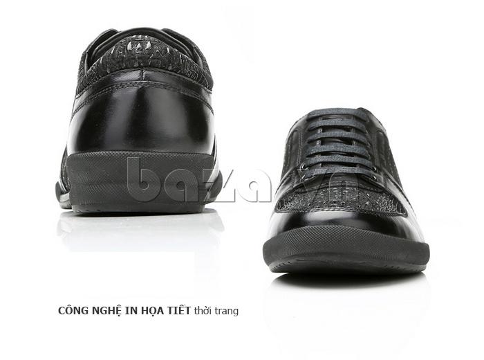 Giày da nam Olunpo QHT1425 họa tiết cá biệt