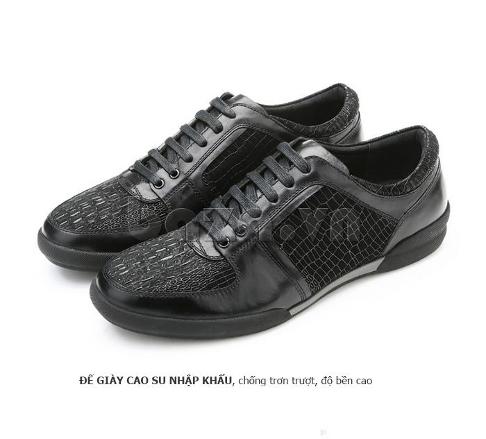 Giày da nam Olunpo QHT1425 sử dụng đế cao su cao cấp