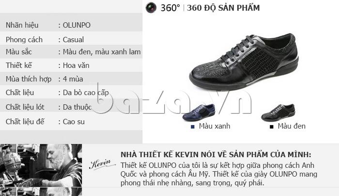 Hình ảnh của Giày da nam Olunpo QHT1425