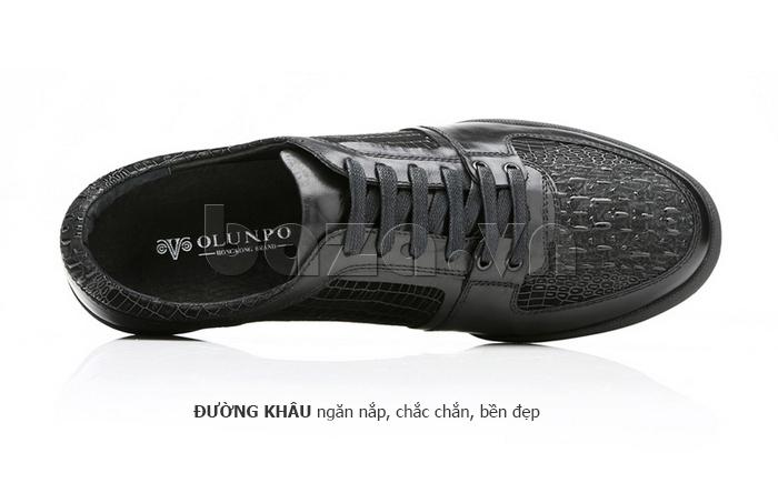Giày da nam Olunpo QHT1425 đường khâu thẳng nếp
