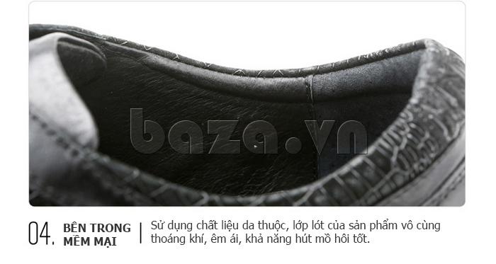 lớp da thuộc bên trong Giày da nam Olunpo QHT1425 mềm mại