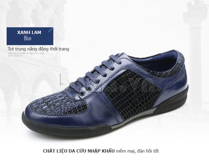 Giày da nam Olunpo QHT1425 trẻ trung năng động