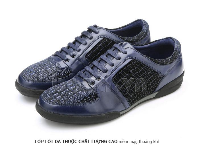 Giày da nam Olunpo QHT1425 sử dụng lớp lót da thuộc cao cấp