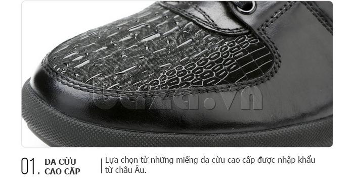Giày da nam Olunpo QHT1425 độc đáo