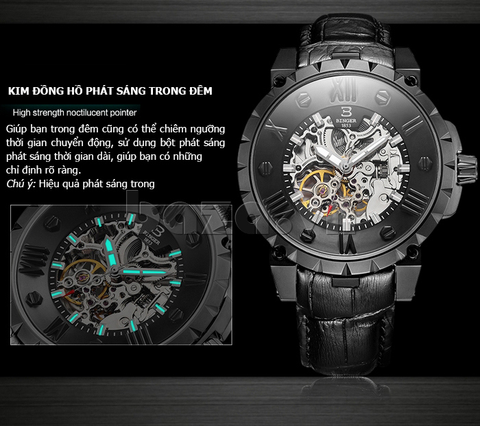 Đồng hồ nam cao cấp Binger BG001