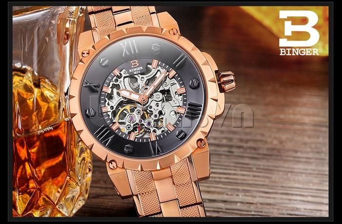 Đồng hồ nam hand winding Binger BG001