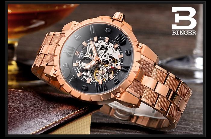 Đồng hồ nam máy cơ Binger BG001