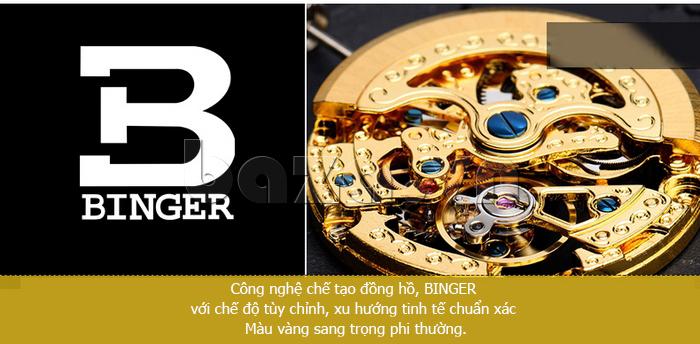 Đồng hồ nam máy cơ Thụy Sỹ Binger BG001