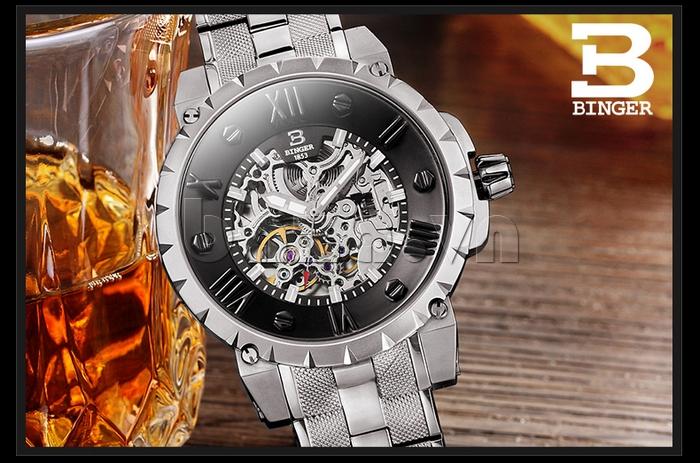 Đồng hồ nam Binger BG001 6