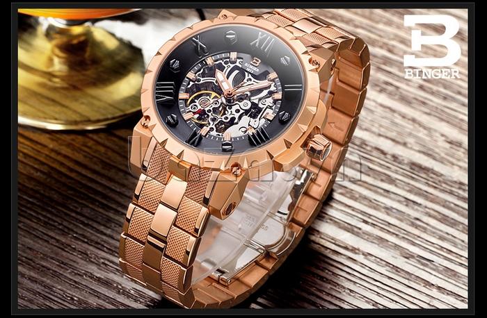 Đồng hồ nam Binger BG001 đồng