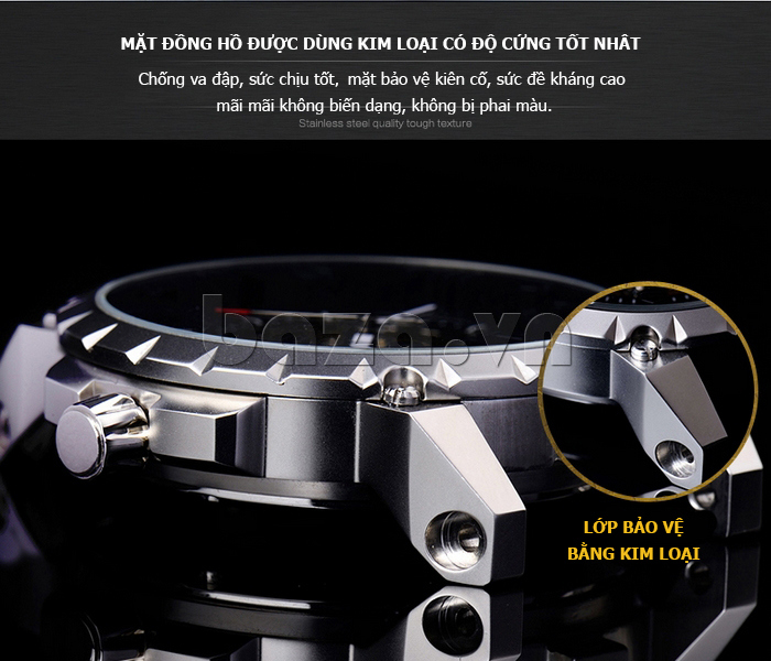 Đồng hồ namviền thép  Binger BG001