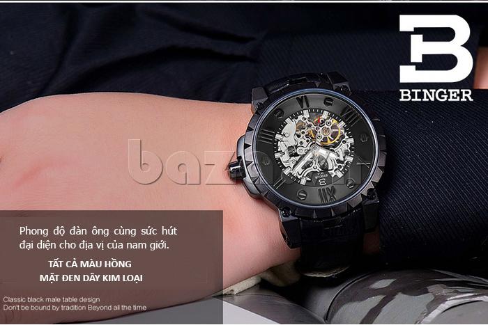 Đồng hồ nam lộ máy Binger BG001