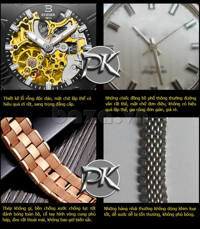 Đồng hồ nam hàng thậtBinger BG001