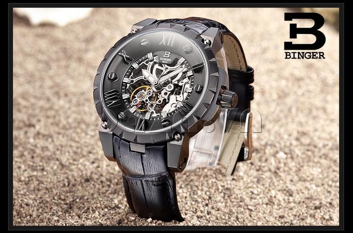 Đồng hồ nam dây da Binger BG001