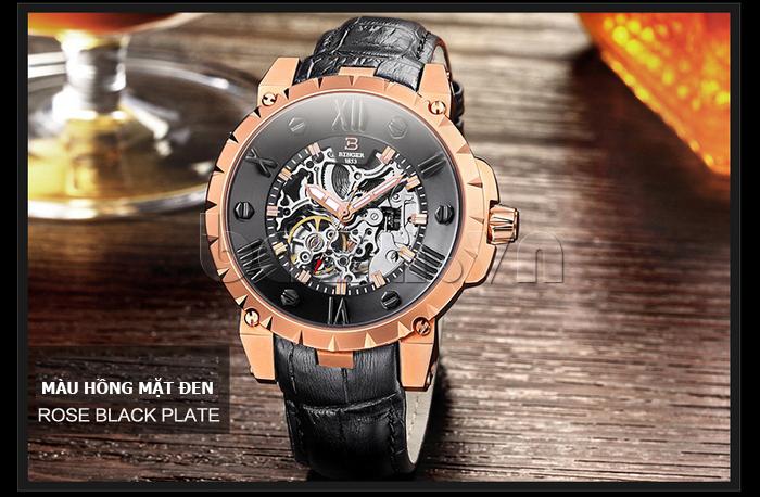 Đồng hồ nam Binger BG001 rose gold
