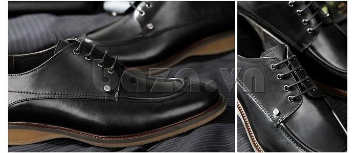 Giầy da nam thời trang Olunpo XL03004 nổi bật các đường may tinh tế, cẩn thận