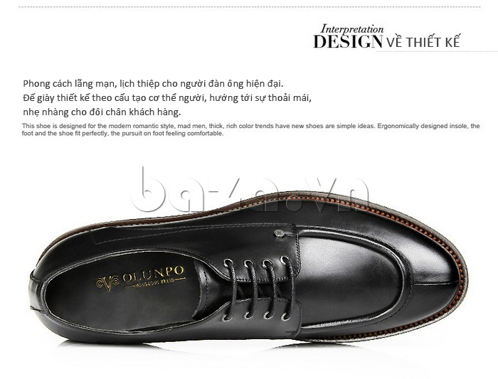 Dòng giày nam phong cách lãng mạn, lịch thiệp cho người đàn ông hiện đại