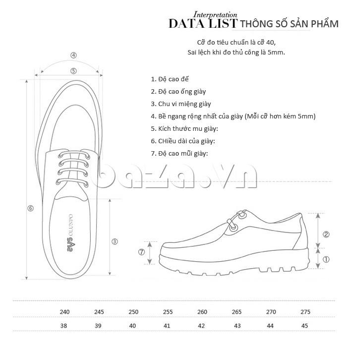Giầy da nam thời trang Olunpo XL03004 - Giày da thể hiện đẳng cấp phái mạnh