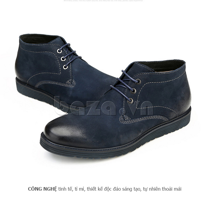 Giày da nam Olunpo DHT1442 thiết kế tỉ mỉ