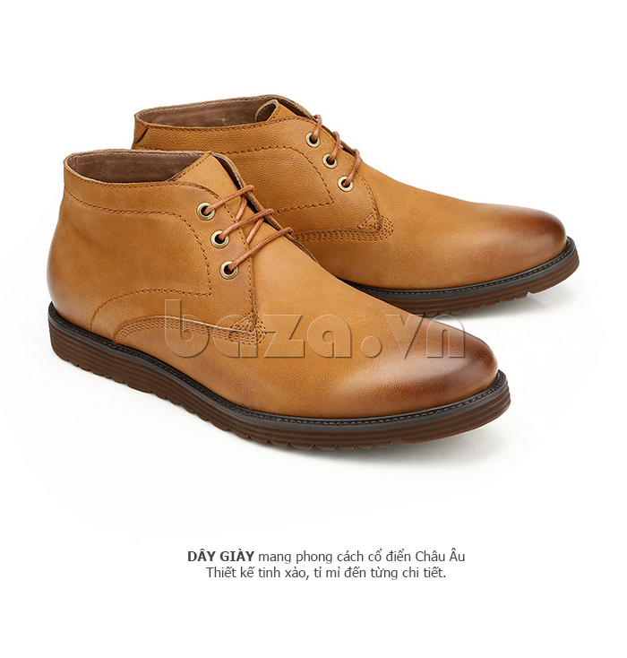 Giày da nam Olunpo DHT1442 màu nâu sáng hấp dẫn
