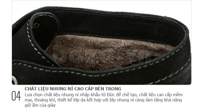 Giày da nam Olunpo DHT1442 dây giày đánh sáp bền đẹp
