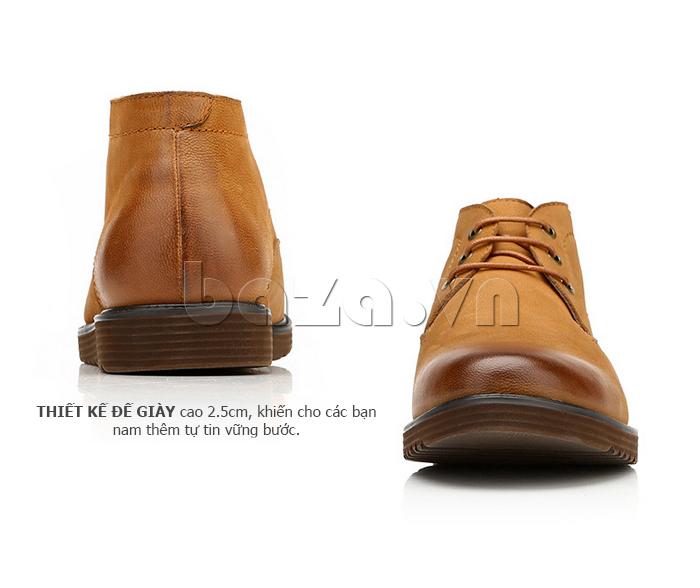 Giày da nam Olunpo DHT1442 cao cổ
