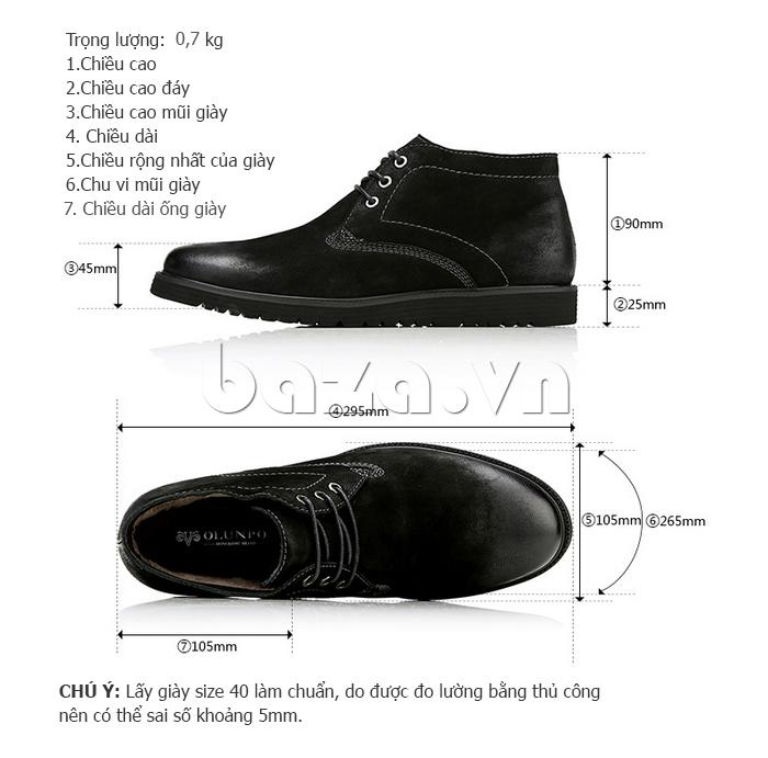 Giày da nam Olunpo DHT1442