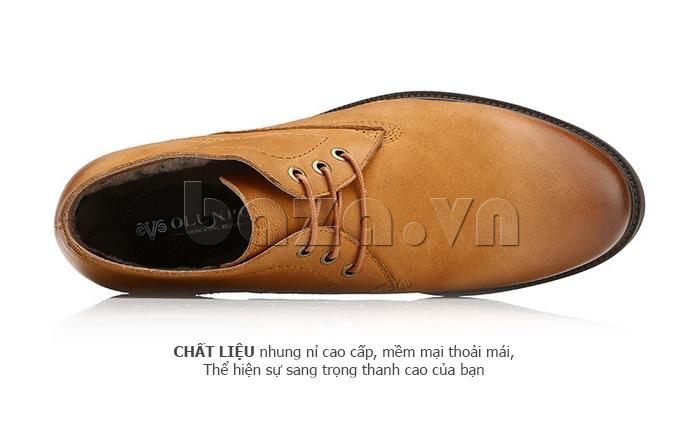 Giày da nam Olunpo DHT1442 thiết kế logo sang trọng