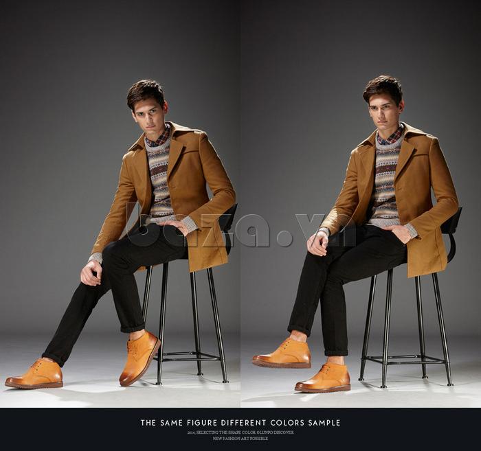 Giày da nam Olunpo DHT1442 dễ kết hợp quần áo