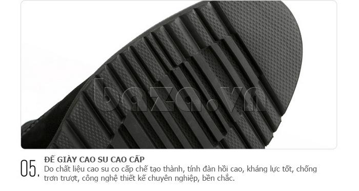 Giày da nam Olunpo DHT1442 có đế giày cao su ấn tượng