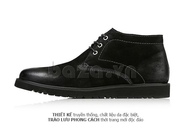 Giày da nam Olunpo DHT1442 màu đen cá tính cho bạn