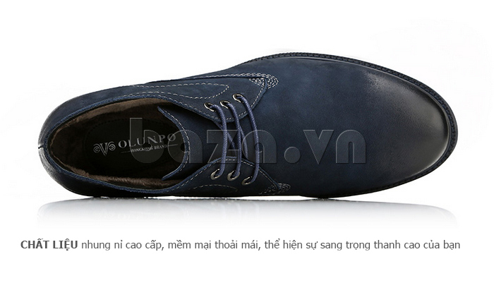 Giày da nam Olunpo DHT1442 có lớp lót bông bên trong