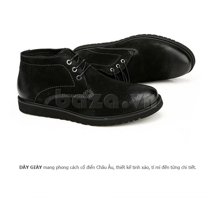 Giày da nam Olunpo DHT1442 đường chỉ may đều đặn