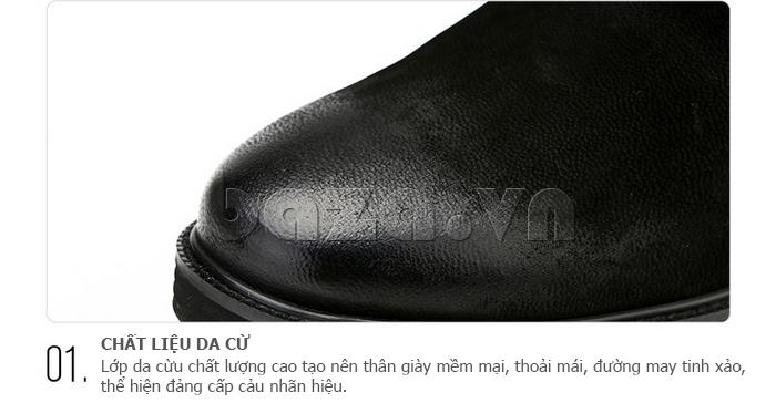Giày da nam Olunpo DHT1442 làm từ da cao cấp