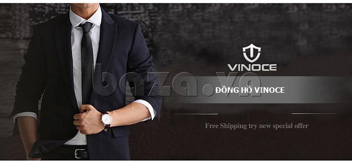 Đồng hồ nữ máy Quartz Vinoce 8380 thiết kế đơn giản lạ