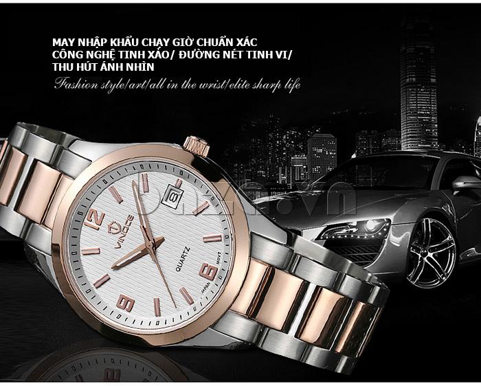 Đồng hồ nữ máy Quartz Vinoce 8380 thiết kế đơn giản hot