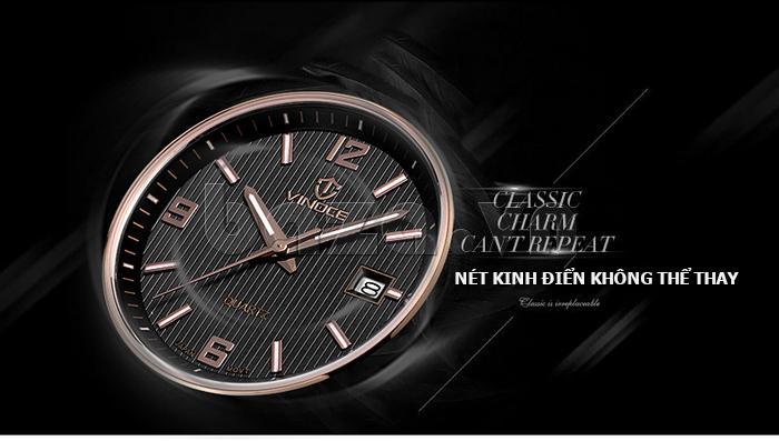 Đồng hồ nữ máy Quartz Vinoce 8380 thiết kế đơn giản bền