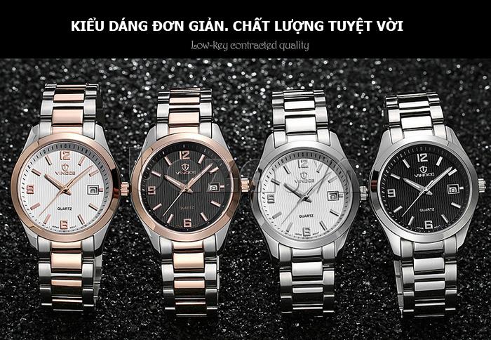 Đồng hồ nữ máy Quartz Vinoce 8380 thiết kế đơn giản đẹp