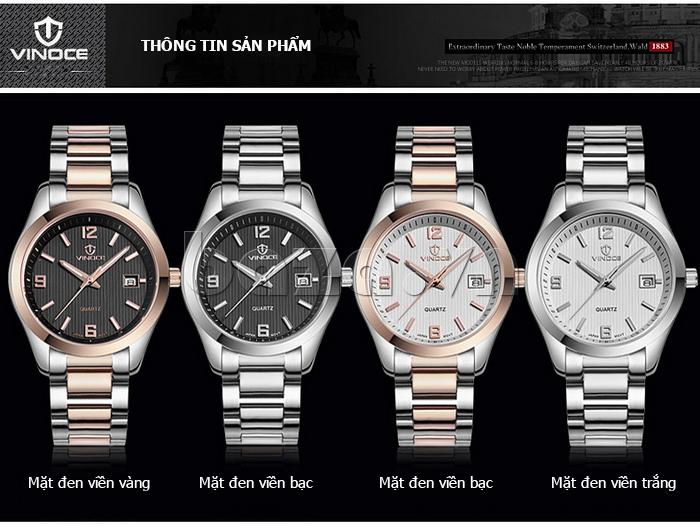 Đồng hồ nữ máy Quartz Vinoce 8380 thiết kế đơn giản tinh tế