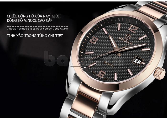 Đồng hồ nữ máy Quartz Vinoce 8380 thiết kế đơn giản ấn tượng