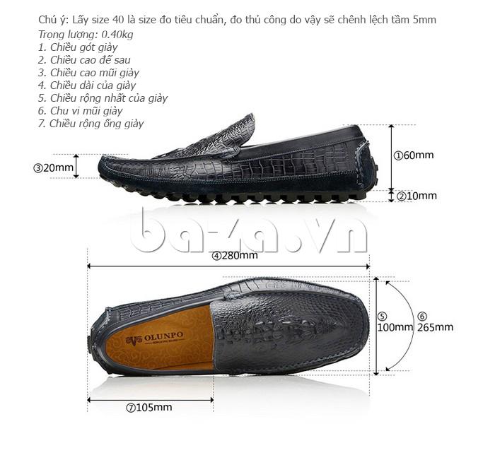 Giày nam Olunpo CCY1502 đế cao su