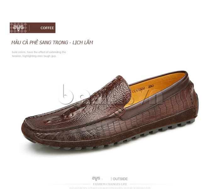 Giày nam Olunpo CCY1502 vân da