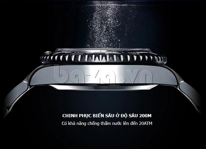 Đồng hồ nam viền khắc số, chống nước hoàn hảo Vinoce 6332222 cá tính