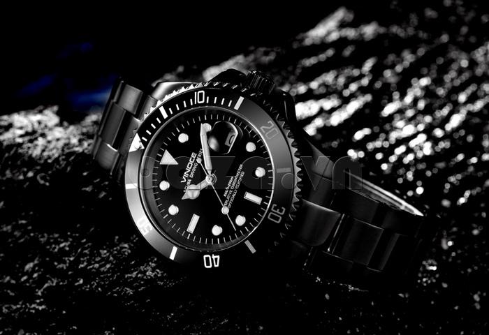 Đồng hồ nam viền khắc số Vinoce 6332222 thiết kế phong cách