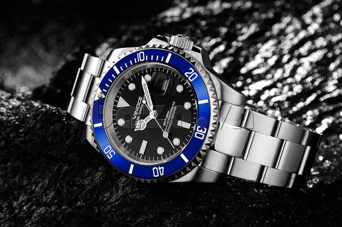 Đồng hồ nam viền khắc số Vinoce 6332222 thiết kế thời trang