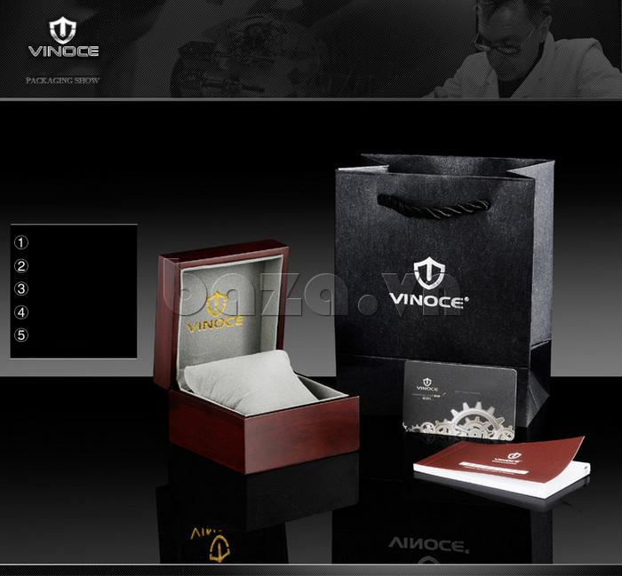 Đồng hồ nam viền khắc số Vinoce 6332222 thiết kế bền đẹp