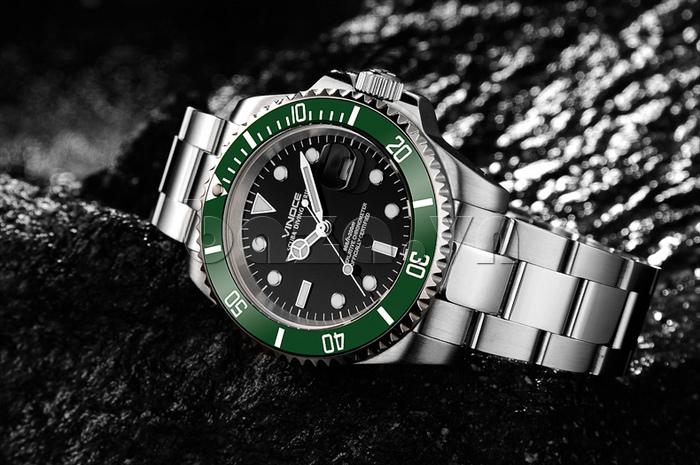 Đồng hồ nam viền khắc số Vinoce 6332222 thiết kế lạ