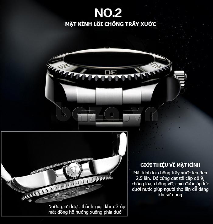 Đồng hồ nam viền khắc số, chống nước hoàn hảo Vinoce 6332222 thiết kế độc